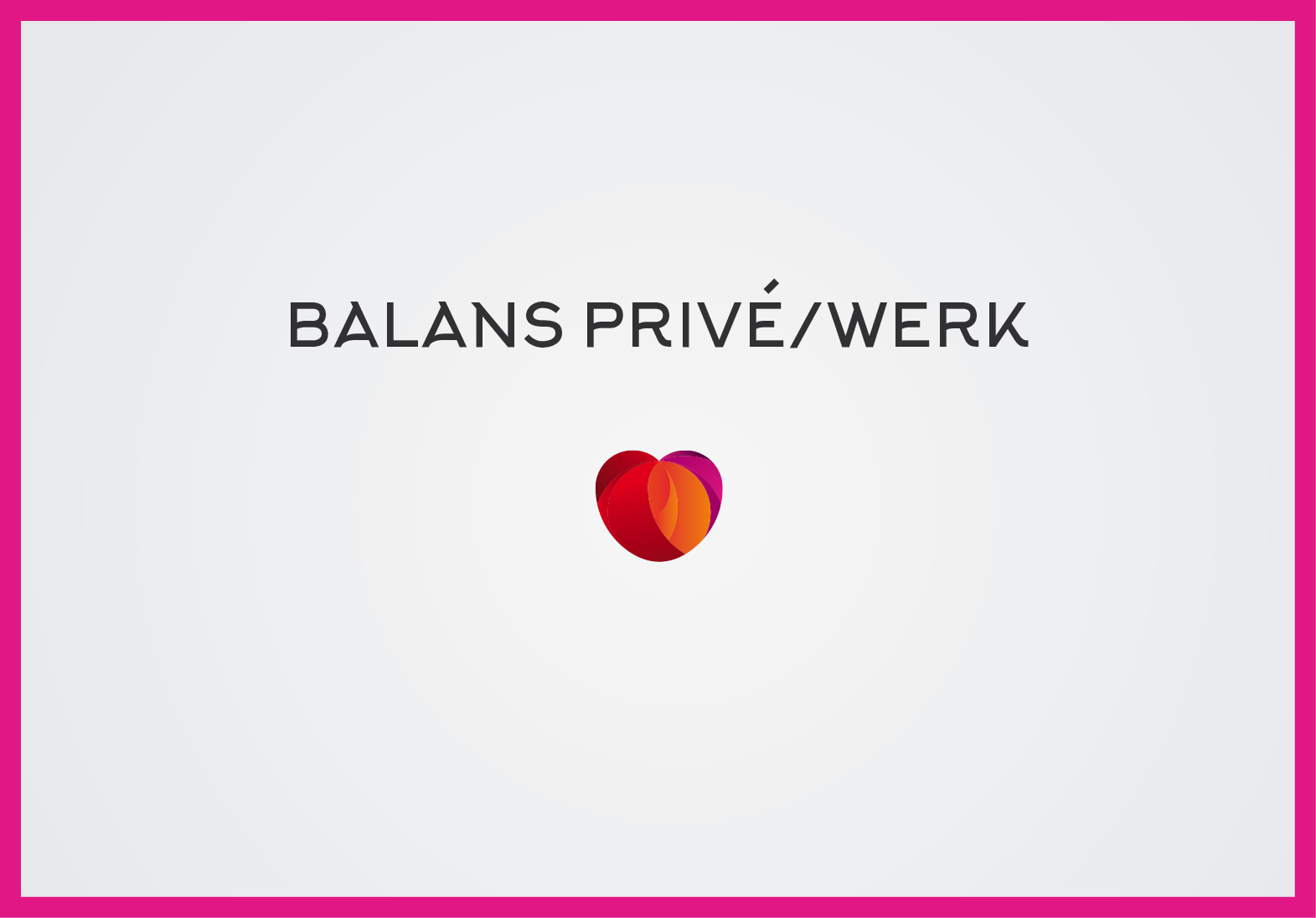 Balans privé/werk